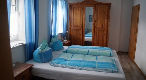 Schlafzimmer Blaumeise Ferienhof Lohr